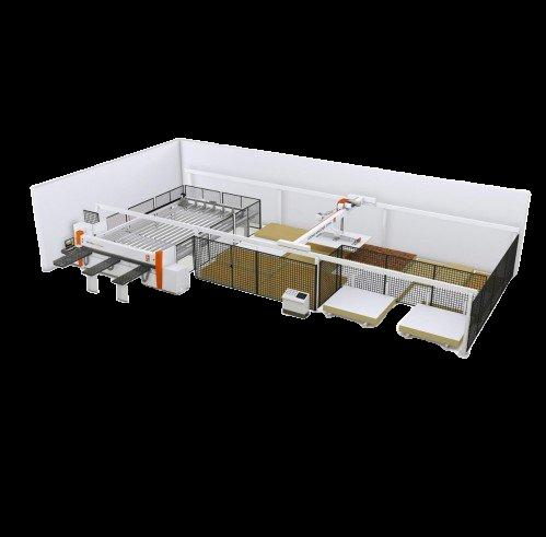 La solución completa para manejo y corte de paneles  centros mecanizados